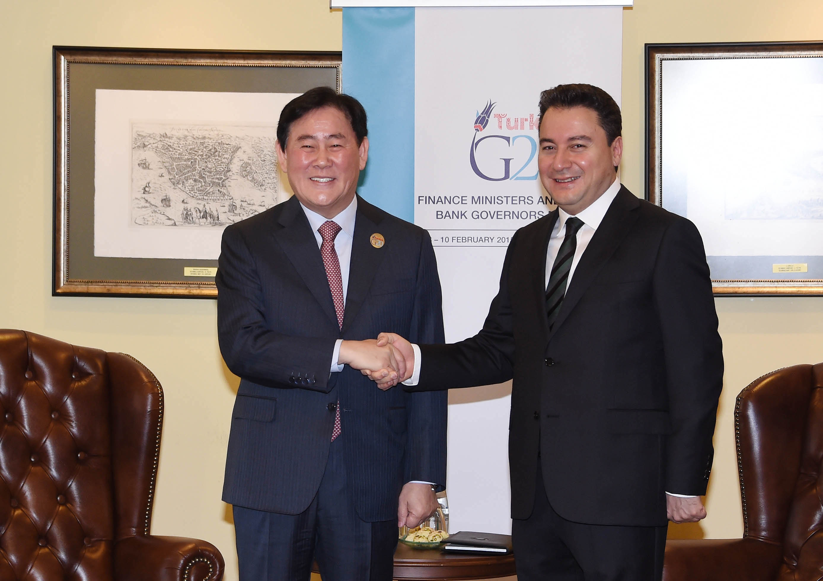 Deputy Prime Minister Choi meets with counterparts during Istanbul G20 Meeting