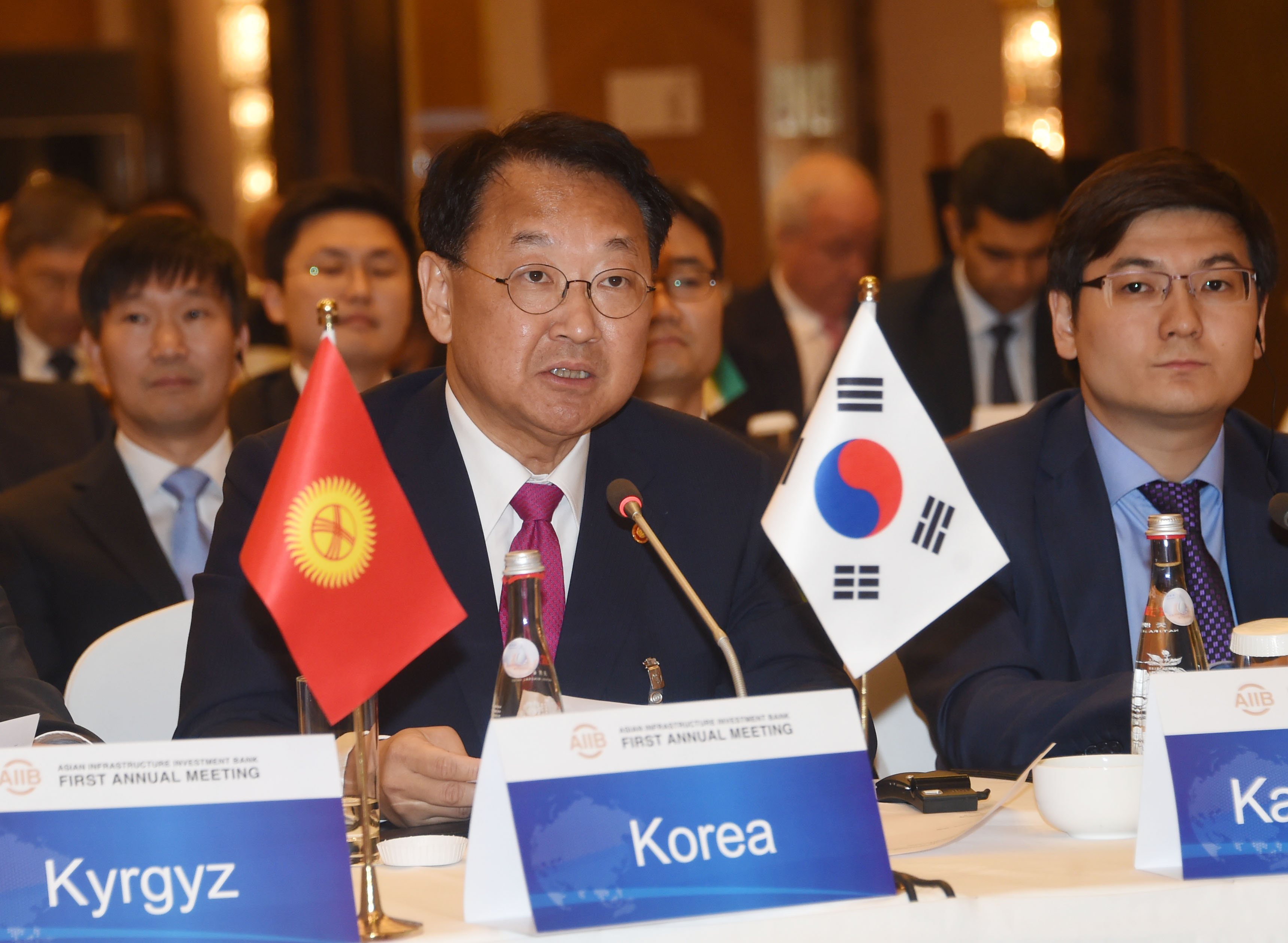 Deputy Prime Minister Yoo attends the first AIIB Annual Meeting in Beijing