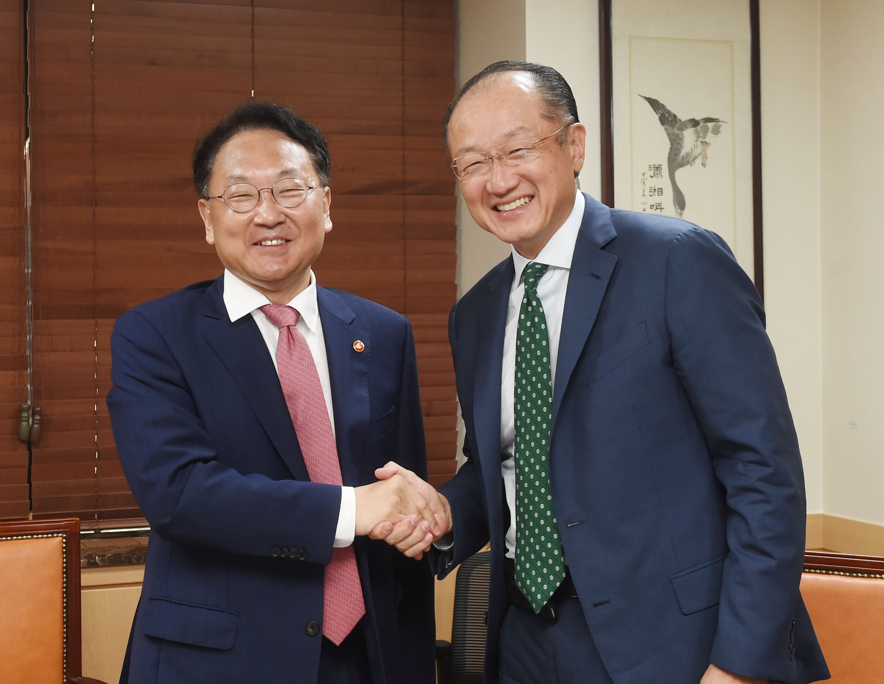 Deputy Prime Minister Yoo meets with World Bank Group President Jim Yong Kim