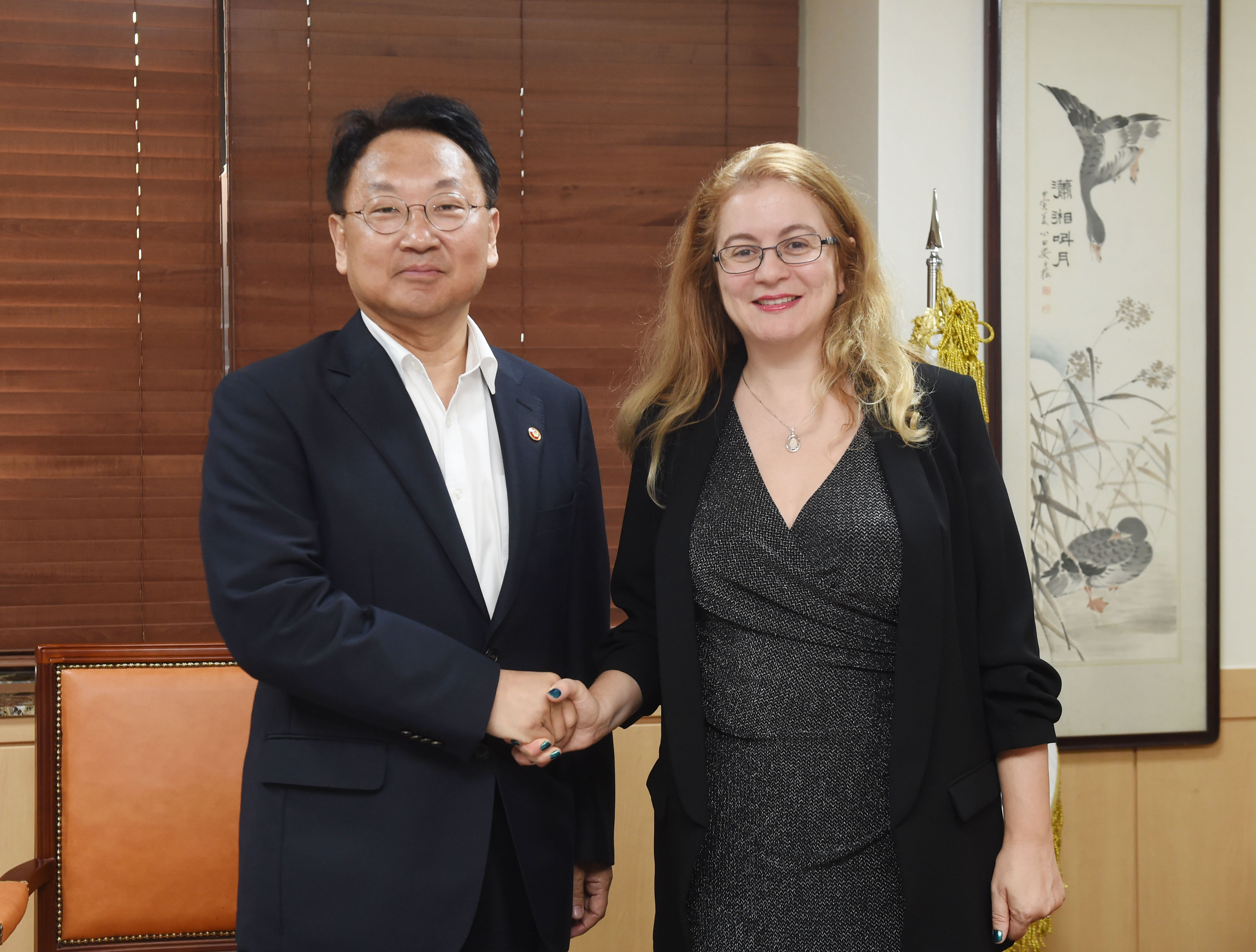 Deputy Prime Minister Yoo meets with GCF Executive Director Hela Cheikhrouhou